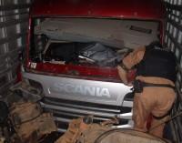 Operação da Polícia de União da Vitória encontra dois caminhões roubados