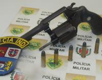 Homem anda armado no bairro Vila Mariana em Bituruna