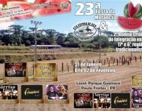Festa da Melancia acontece neste final de semana em Paula Freitas