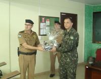 Coronel do Exército de Porto União visita a Polícia Militar em União da Vitória