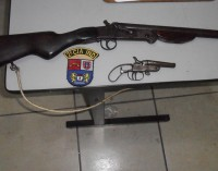 Equipe da Rotam apreende duas armas de fogo no bairro São Braz