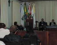 Moradora de Porto União utiliza a tribuna da Câmara de Vereadores para falar de projeto