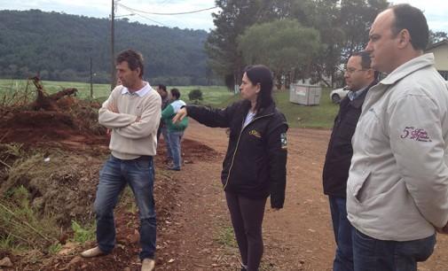 Prefeitura de Bituruna inicia a terraplanagem para a construção da escola Santo Antonio do Iratim