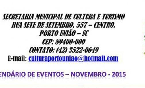 Secretaria de Cultura divulga programação de novembro