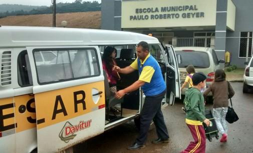 Mapeado o transporte escolar de Bituruna