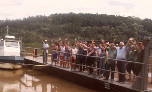 Balsa retoma atividades em Porto Vitória