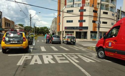 PM registra acidente no centro da cidade neste carnaval