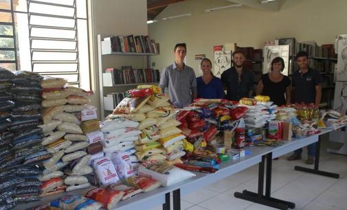 500 quilos de alimentos são doados para Ação Social