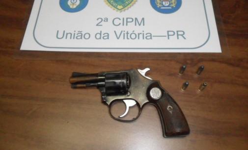 PM de General Carneiro apreende arma de fogo