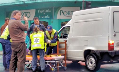 Acidente é registrado no centro de Porto União