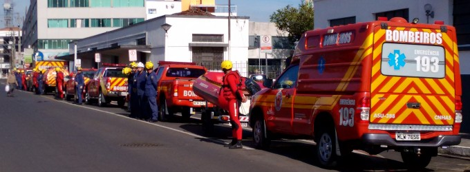 Bombeiros fazem simulação de risco em Porto União