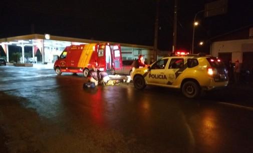 Mais um acidente envolvendo moto nas gêmeas do Iguaçu
