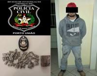 Traficante é preso pela Polícia Civil de Porto União