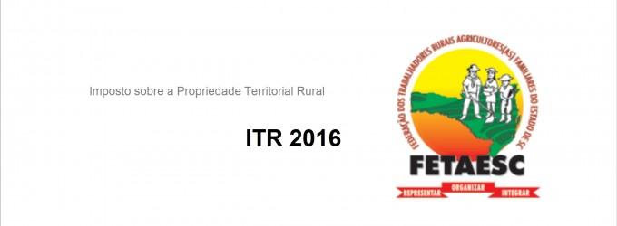 Agricultor fique atento ao prazo do ITR 2016