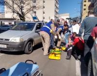 Mulher é atropelada no centro de União da Vitória