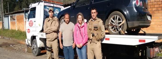PM Porto União recupera veículo furtado
