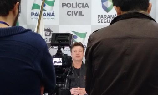 Possebon fala com a imprensa sobre apreensão de menor