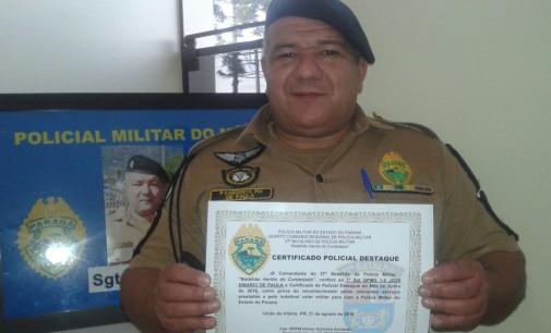 3ª Cia presta homenagens para policiais de São Mateus do Sul
