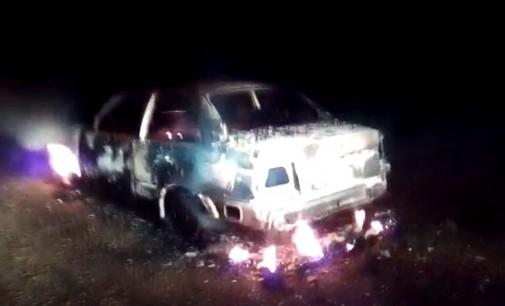 Incêndio destrói veículo em Cruz Machado