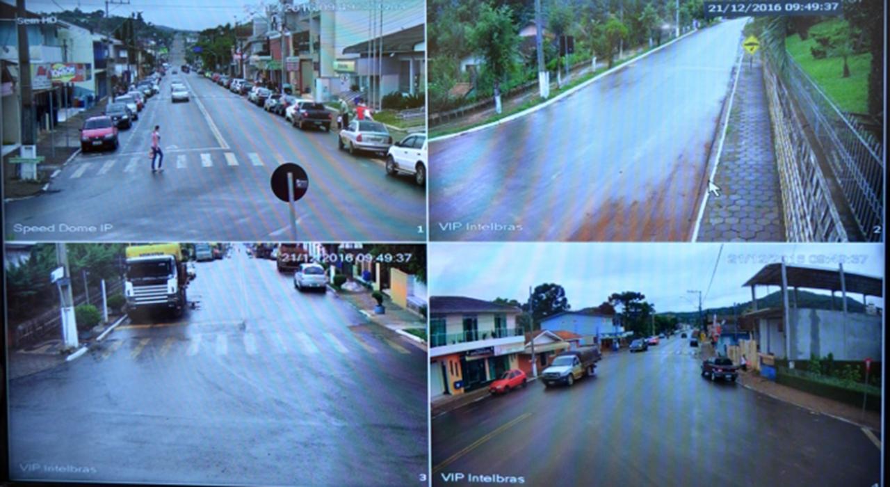 A comunidade de Cruz Machado, já pode contar com mais segurança com as 23 câmeras de vídeo monitoramento. Foto: Divulgação