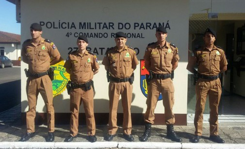 PM de União da Vitória recebe mais três policiais
