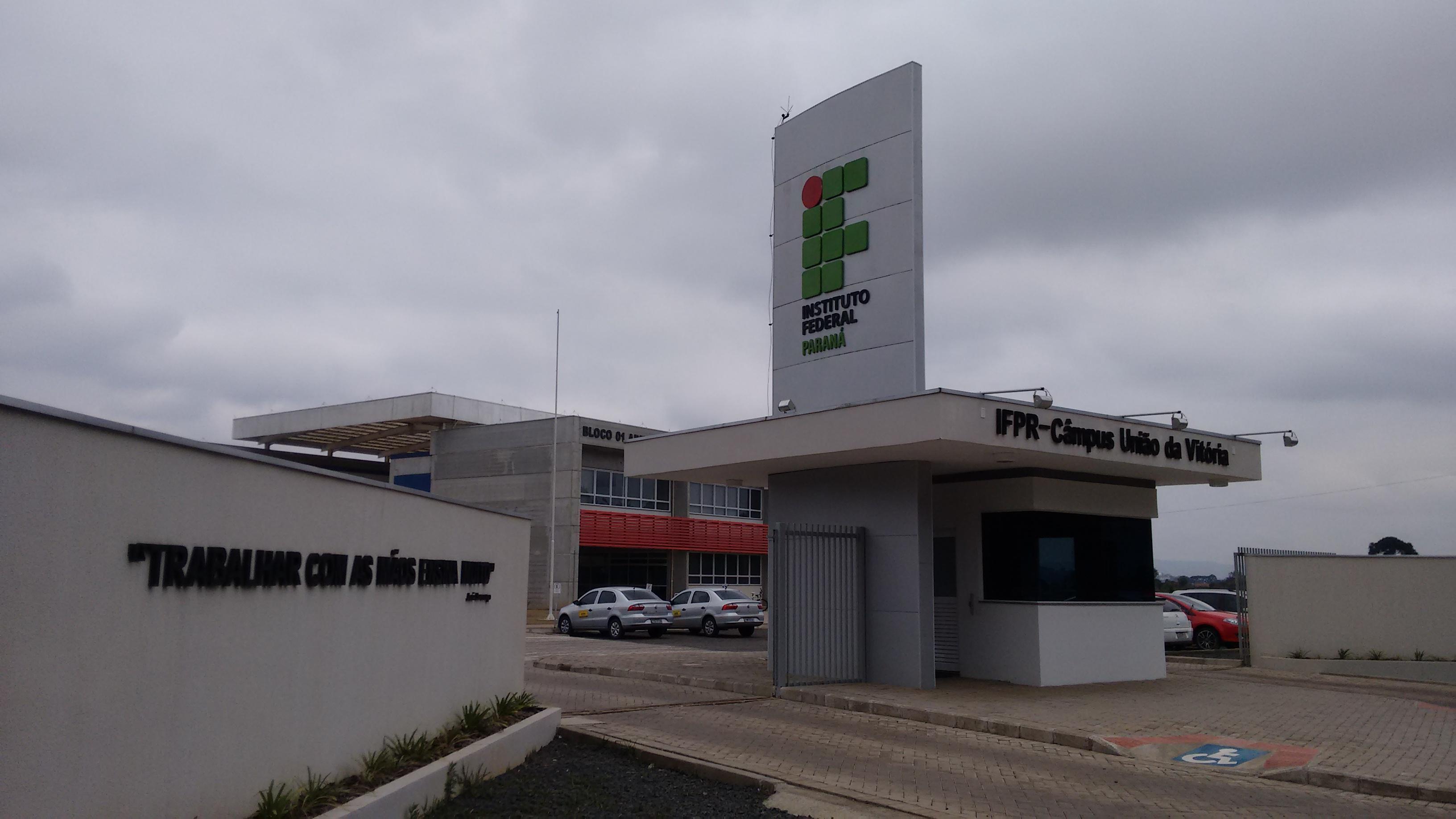 Sede do IFPR de União da Vitória Foto: Marciel Borges/ Rádio Colmeia