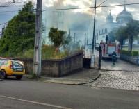 Incêndio atinge a central de energia da Copel