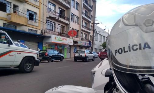 Polícia Militar de Porto União faz blitz no centro da cidade
