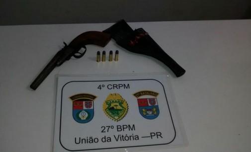 PM de General Carneiro apreende armas de fogo