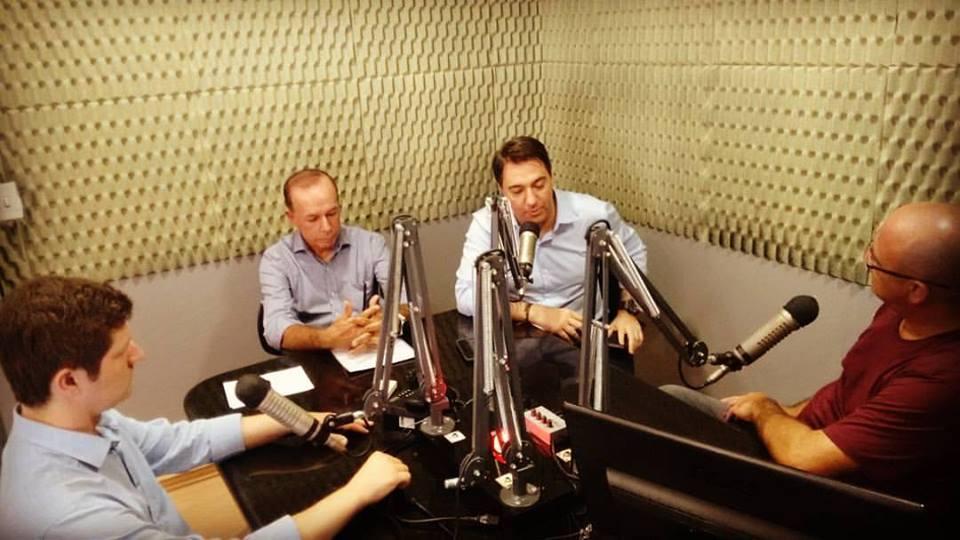 A entrevista foi realizada na sede da Rádio Colmeia, na cidade de Porto União Foto: Marciel Borges/ Rádio Colmeia