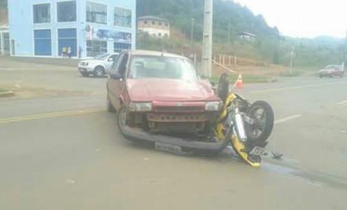 Motoqueiro fica ferido em acidente na PR 170 em Bituruna