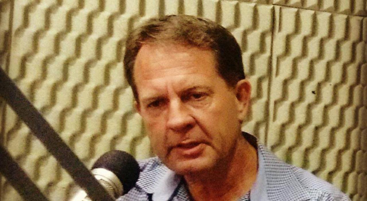 Prefeito de Porto União, Eliseu Mibach, em entrevista para a Rádio Colmeia, no sábado, 4 de março, no Jogo Aberto Foto: Marciel Borges/ Rádio Colmeia