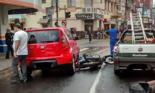 Motoqueiro fica ferido em acidente de trânsito em UVA