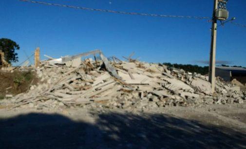 Prédio em construção caiu em União da Vitória