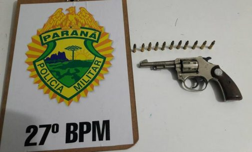 PM apreende arma de fogo no bairro Dona Mercedes