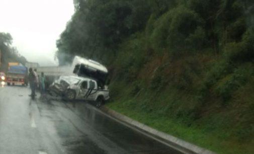 Viatura da Polícia Civil do RS se envolve em acidente a BR 153