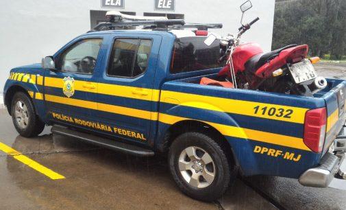 PRF recupera moto furtada em União da Vitória
