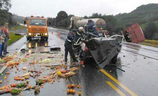 Acidente na BR 153 deixa um morto na Serra do Honorato