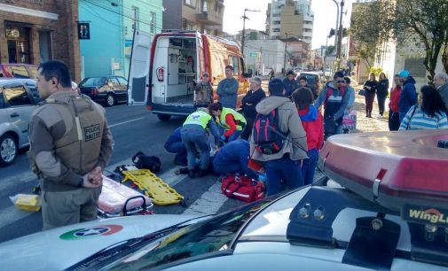 Ciclista é atropelado no centro de União da Vitória