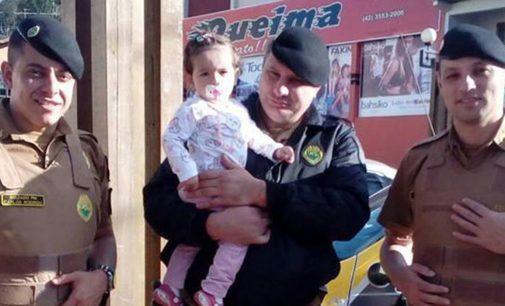 PM de Bituruna salva criança com convulsão