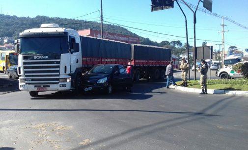 PM registra acidente no bairro São Pedro em Porto União