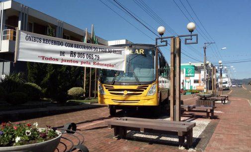 Prefeitura de Bituruna adquire novo ônibus escolar