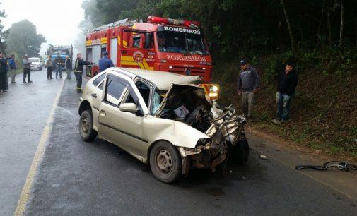 Acidente na SC 135 deixa três feridos