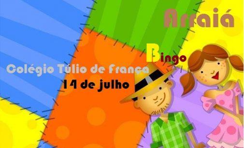 Arraiá e bingo do Colégio Túlio de França, será realizado dia 14
