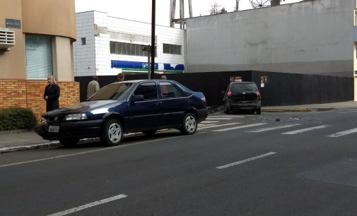 PM registra acidente no centro de Porto União