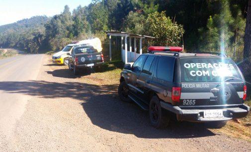 Polícia continua na busca de assaltantes em Bituruna