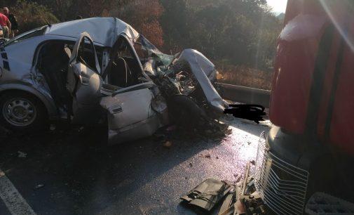 Acidente na BR 153 deixa dois mortos