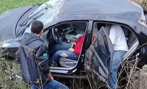 Condutora perde a direção na SC 135
