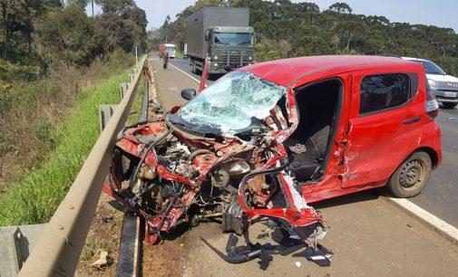 Acidente de trânsito na BR 153, deixa uma pessoa ferida