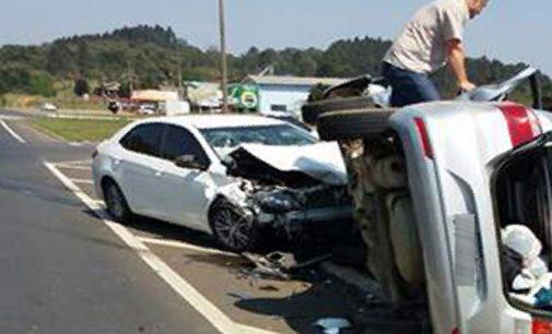 Acidente na BR 153 deixa seis feridos